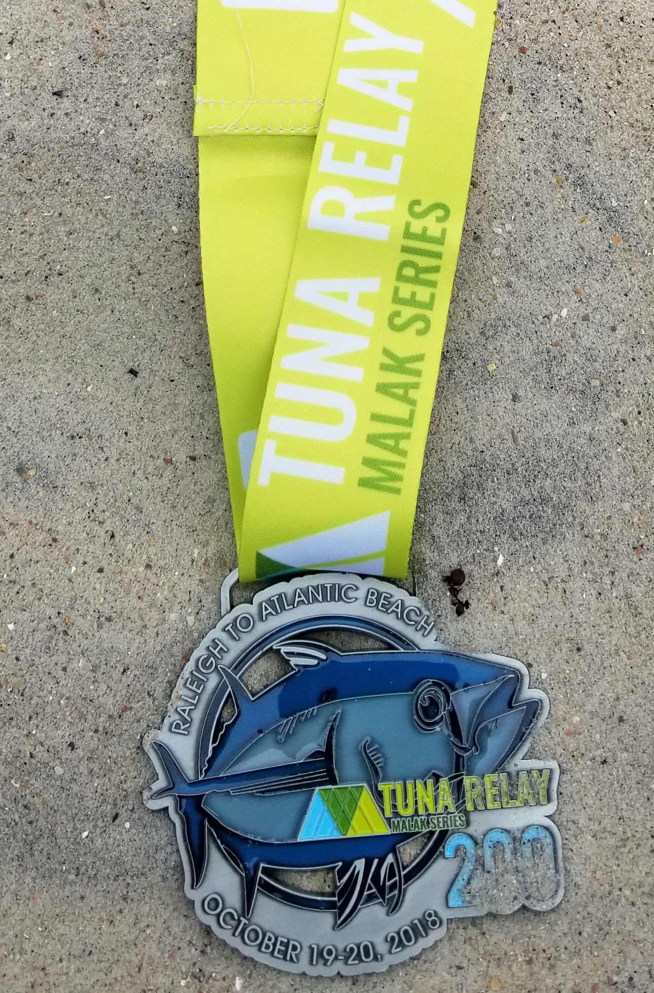 medal - blue tuna - tuna 200 on a malak series ribbon