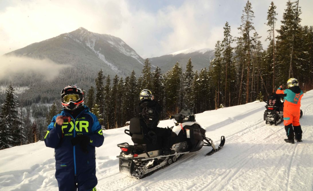 Snowmobiling with Toby Creek adventures