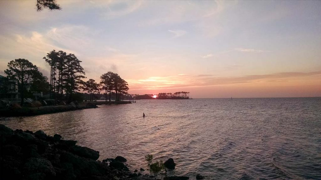 Sunrise over Neuse River in Oriental