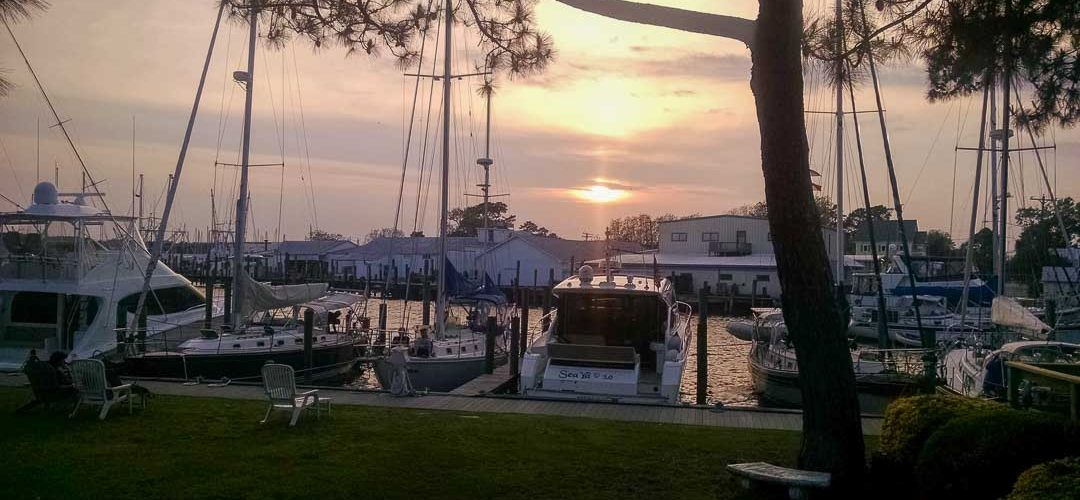 Sunset at Oriental marina