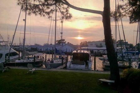 Sunset at Oriental marina